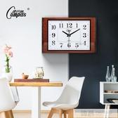 客廳靜音掛鐘臥室鐘錶創意時鐘個性時尚北歐石英鐘家用鐘錶  韓慕精品 YTL