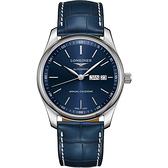 LONGINES浪琴 Master 巨擘經典機械錶-藍/40mm L29104920