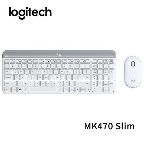 【鼠王送錢 限時至0209】 Logitech 羅技 MK470 Slim 纖薄無線鍵盤滑鼠組 珍珠白