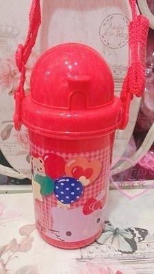 小花花日本精品HelloKitty小熊氣球兒童冷水壺附吸管背帶可調整01003109