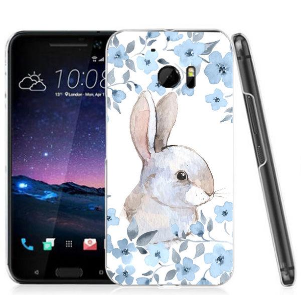 ♥ 俏魔女美人館 ♥ (小灰兔*水晶硬殼}HTC 10 手機殼 手機套 保護套 保護殼