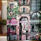 歐式花園咖啡屋巴黎街道Polyester...