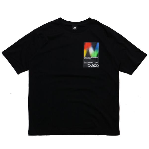 NEW BALANCE 黑 彩色漸層 大N LOGO 短袖T(布魯克林) AMT03529BK