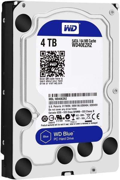 WD 藍標 4TB 3.5吋桌上型硬碟(WD40EZRZ)
