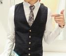 男士領帶 6CM時尚西新款男士商務印花復古花紋正裝襯衫窄領帶滌絲禮盒套裝【快速出貨八折搶購】
