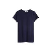 Gap女童荷葉邊飾圓領短袖T恤546066-海軍藍色
