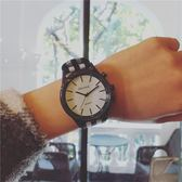 手錶女學生韓版簡約潮流ulzzang帆布帶大表盤運動手錶男學生復古igo   酷男精品館