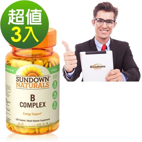 《Sundown日落恩賜》每日綜合B群RDV錠(100錠/瓶)3入組
