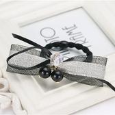 【NiNi Me】 韓系髮飾 氣質甜美壓克力水晶珍珠網紗亮片髮束 髮束 H9101