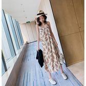 很仙的法國小眾V領連衣裙女夏裝裙子chic性感吊帶裙森系 炫科技