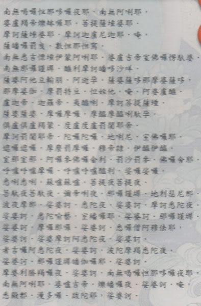 正宗大悲咒 八十四句 梵音版 CD (音樂影片購)