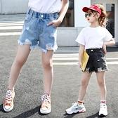 短褲 女童褲子夏款兒童寬鬆短褲牛仔褲2020新款中大童韓版洋氣休閒短褲