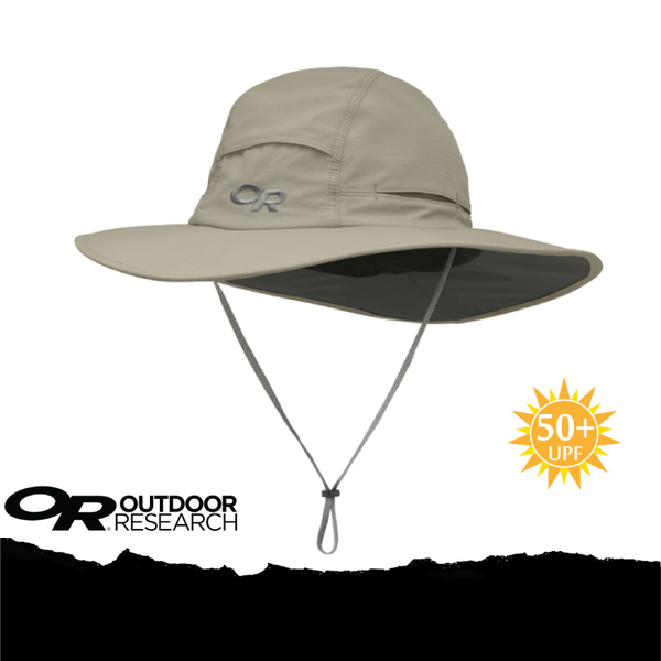 【Outdoor Research 美國 SOMBRIOLET SUN HAT 抗UV透氣大盤帽/L《卡其》】243441-0800/UPF50+/吸排/遮陽帽