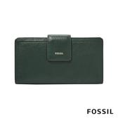 FOSSIL LOGAN 真皮RFID中長夾-雲杉綠色 SL7830366