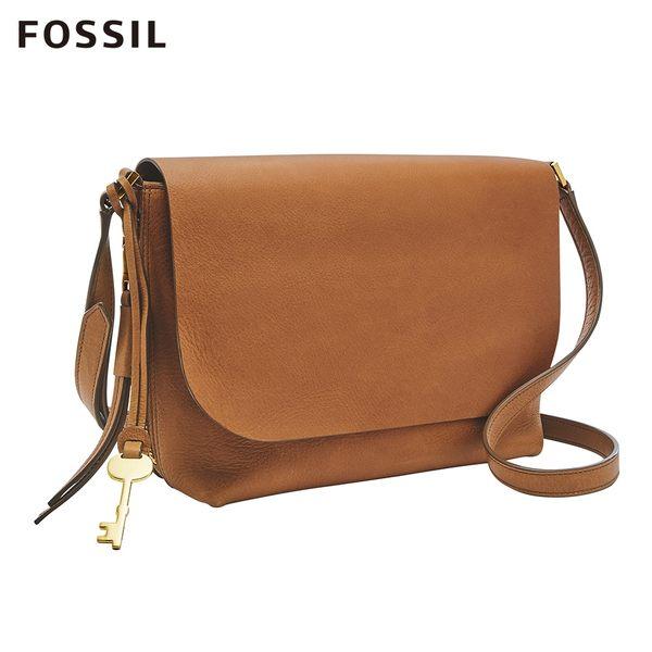 Fossil MAYA 駝色柔軟真皮小斜背包 ZB7615231