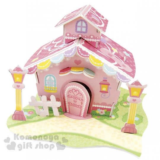 〔小禮堂嬰幼館〕Hello Kitty 3D立體模型組合屋玩具《桃粉.緞帶房屋》適合3歲以上孩童 4902923-14380