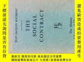 二手書博民逛書店The罕見Social Contract 《社會契約論》讓-雅克