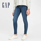 Gap女童 淺色水洗鬆緊牛仔褲 679602-中度水洗