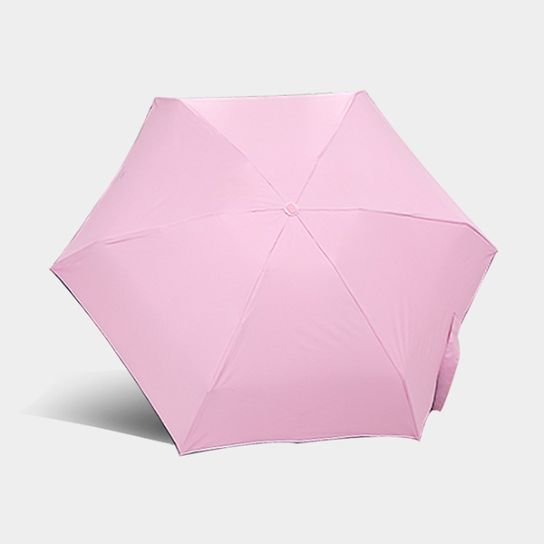 傘霸 二代超輕量迷你黑膠五折雨傘