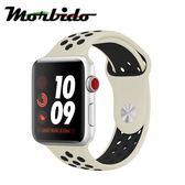Morbido蒙彼多 Apple Watch 44mm運動型錶帶(白配黑)