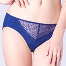 思薇爾-晴星系列M-XXL蕾絲中腰三角內褲(海軍藍)