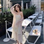 依二衣 洋裝 夏款韓版裝蕾絲收腰純色吊帶連身裙