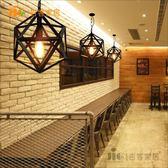 [吉客家居] 吊燈-鐵藝幾何黑水晶 工業LOFT倉庫仿舊風作舊手工現代餐廳商空咖啡設計師