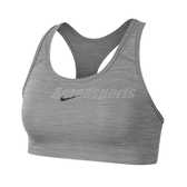 Nike 運動內衣 Swoosh 1-Piece Pad Sports Bra 灰 黑 女款 中強度支撐 BV3637-084