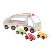 法國 Janod 經典設計木玩~胖胖拖運車