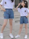 短褲 韓版牛仔短褲女童2021年夏季薄款中大童外穿百搭兒童洋氣寬鬆時髦