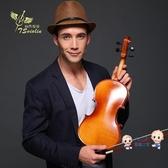 小提琴 手工實木初學者小提琴成人兒童小提琴初學考級小提琴入門演奏T 多色 雙12提前購
