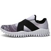 情侶慢跑鞋(單雙)-交叉彈力鬆緊帶時尚男女運動鞋6色73ev4【時尚巴黎】
