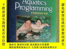 二手書博民逛書店Adapted罕見Aquatics Programming---