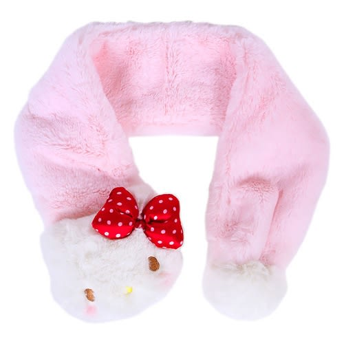 Sanrio HELLO KITTY玩偶造型兒童圍巾(臉紅紅)
