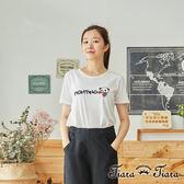 【Tiara Tiara】百貨同步 熊貓動物家族短袖棉T(白/藍/灰底藍熊/灰底白熊)