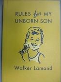 【書寶二手書T3/原文書_NSO】Rules for My Unborn Son: Let's Get Some Thi