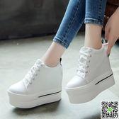 小白鞋春季韓版新款厚底內增高帆布鞋學生百搭女小白鞋1992原宿女鞋 一件免運節