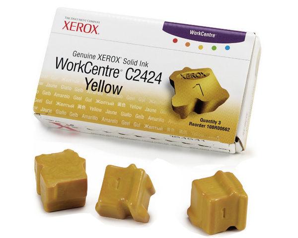 108R00662   FujiXerox  黃色蠟塊 3塊裝 (3.4K) WC2424