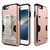 Phonefoam iPhone6/6s 4.7吋腰夾式插卡吸震保護殼(玫瑰金)