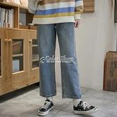 牛仔褲女小個子寬鬆闊腿褲夏季新款高腰顯瘦九分直筒復古老爹潮褲 快速出貨