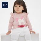 Gap女嬰兒甜美木耳邊飾毛衣針織衫513733-粉色