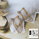 『時空間』歐美風個性雙層鎖鍊造型(18Kgpゴールド)耳環 -單一款式