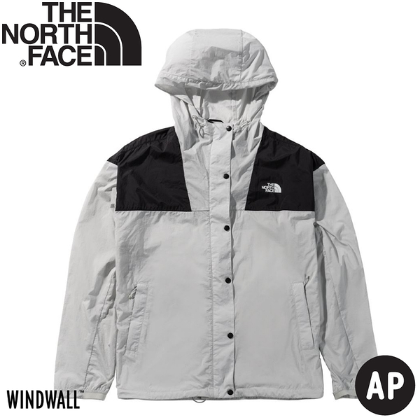 【The North Face 女 防風外套《灰白》】4973/薄外套/春夏外套/防潑水/防曬/防風外套