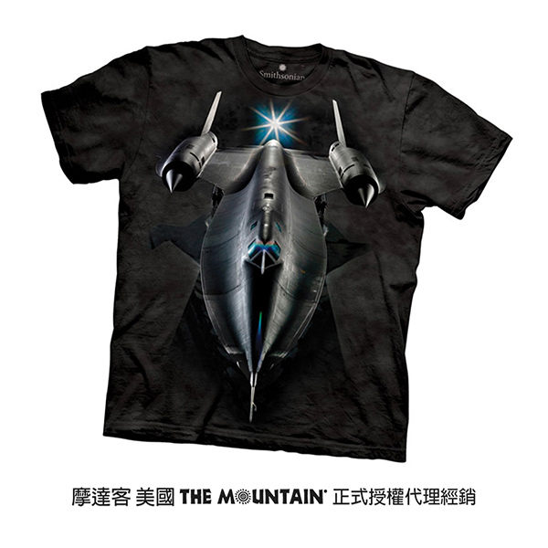 【摩達客】(預購)美國進口The Mountain Smithsonian系列黑鳥偵察機 純棉環保短袖T恤