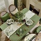 美式田園餐桌布茶幾桌布布藝桌旗桌墊