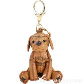 MCM Zoo Dog 品牌印花小狗造型鑰匙圈/吊飾(棕色) 1840723-07