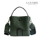 側背包 時尚復古皮革寬背帶水桶包 3色-La Poupee樂芙比質感包飾 (現貨+預購)
