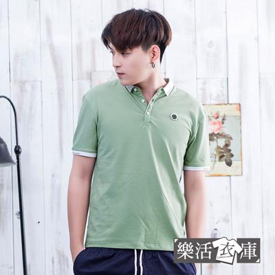 【PS3001】素面六角標章透氣棉質短POLO衫(共三色)● 樂活衣庫
