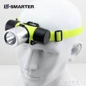 手電筒 潛水頭燈強光可充電超亮LED頭戴式手電筒水下專業用防水戶外礦燈【果果新品】