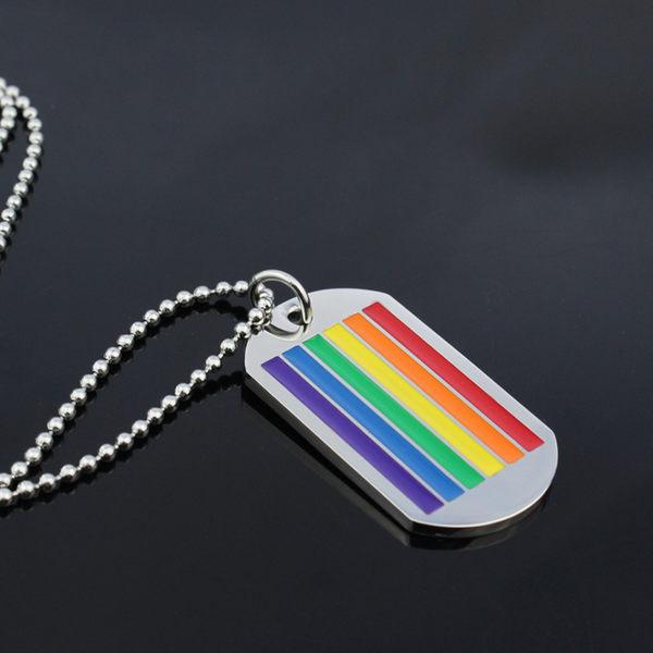 彩虹吊墜項鍊 鈦鋼 316鋼 拉拉 同性 LES 另有 手鍊 手環 項鍊 沂軒精品 F0006-2